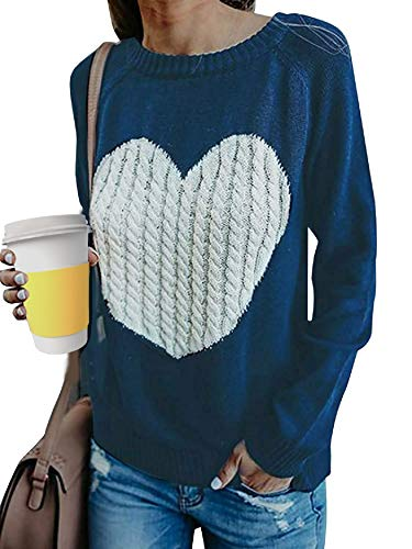 UMIPUBO Mujer Básico Punto Suéter Moda O-Cuello
