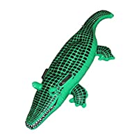 Kids Beach Swimming Blow-up Large Inflatable Crocodile Floats Fancy Accessory