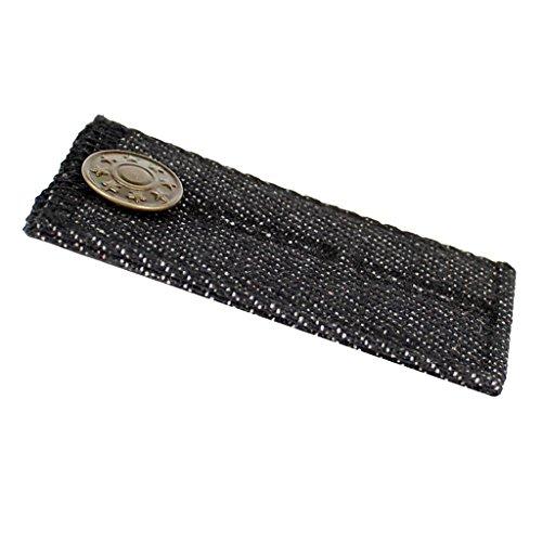 Sharplace Bunderweiterung Metall Knopf Hosenerweiterung Rockerweiterung - Schwarz