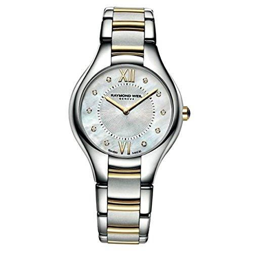 Raymond Weil 5132-STP-00985 mm Stainless Steel Case Crocodile Anti-Reflective Sapphire Women's Watch