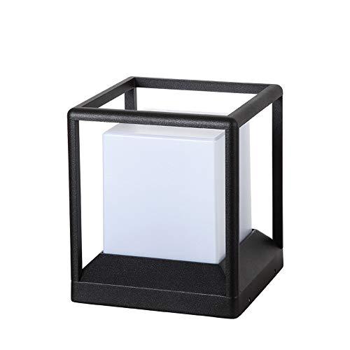 Im freien wasserdichte IP54 spalte kopf licht luxus kolonial außerhalb post licht platz verbunden tür stehlampe e27 säule laterne licht (Größe : S)