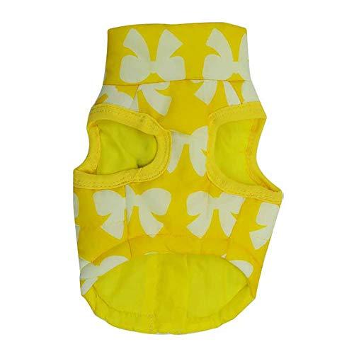 Bayliney_Haustier Hund Winter Mantel Katze Jacke Lieferungen Kleider Bekleidung HüNdchen KostüM(Gelb,L)