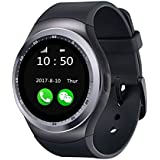 YGS Bluetooth smartwatch / Wrist Watch (Y1 Black) with Sim Card Support for High Quality Calling | Facebook and WhatsApp | Touch Screen | Multilanguage | Activity Trackers | Fitness Band Features | Video Recording | Phone Book | Smartwatch Phone with Camera TF SIM Card Slot | Compatible with 2G 3G 4G Android Mobile Phones & IOS phones.