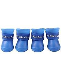 Ducomi Zampette – Botas Protectoras antilluvia y Antideslizantes para Perros – Botas de Perro de Goma