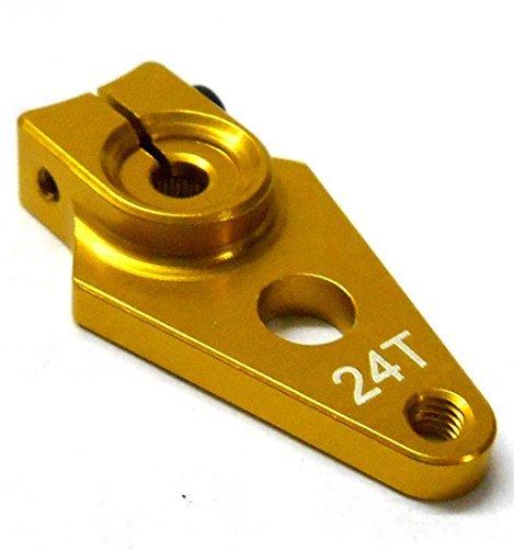 HS451057 1/10 Volant Alliage Palonnier Bras 24 Dents Dents 24T Simple Or 30mm