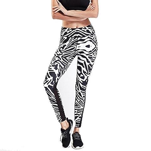Wgwioo Womens Imprimés Pantalon De Yoga Active Workout Leggings Stretch Collants . Zebra . L