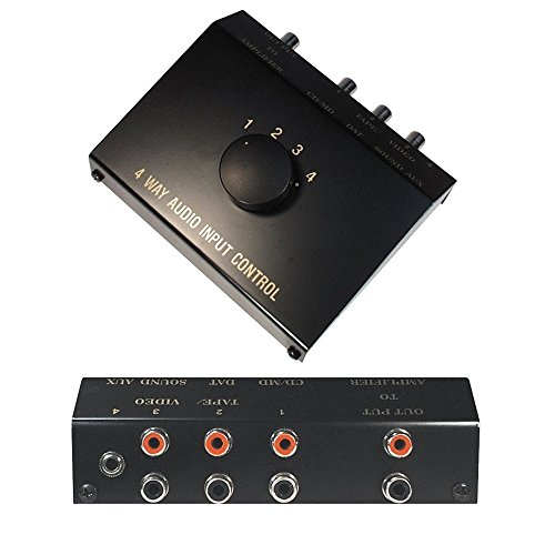 Audio AUX RCA Umschaltbox Schalter Controller Switch Splitter / 1 3,5mm Klinke IN / 3 L-R Cinch IN 1 Cinch OUT / - Rca-schalter