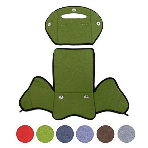 BambiniWelt24 BAMBINIWELT Ersatzbezug, Sitzkissen, Bezug für Fahrradsitz, Modell RÖMER Jockey (Modell 4, meliert) (grün meliert)