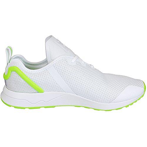Adidas Originali Sneaker Zx Flux Adv Asimmetrico Sneaker Trainer Bianco / Verde