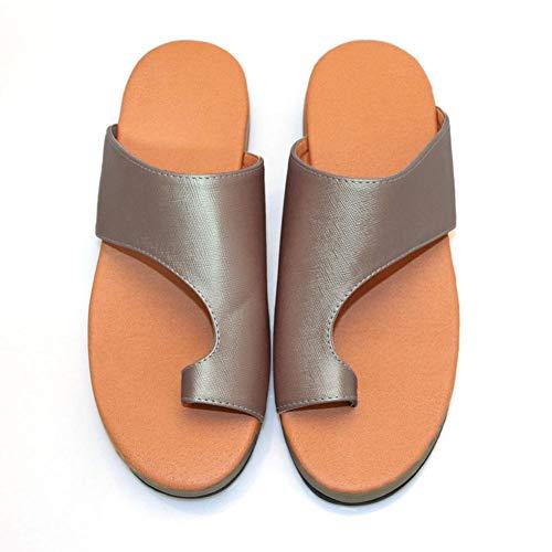 Sandalias con plataforma cómoda para mujeres, zapatos de viaje con estilo en la playa de verano 2019...