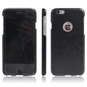 Americhome TM Series Artificial Leather Back Cover For Iphone 7g plus (Black)