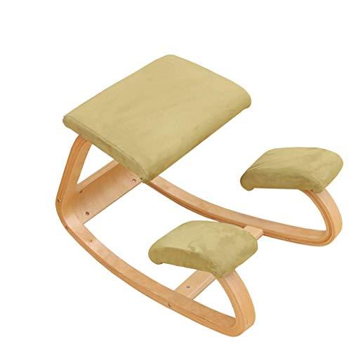 Tintin's shop sgabello in legno per ufficio e casa   sostegno alla tensione, cuscinetti ortopedici morbidisedia ergonomica inergonomica sedia correttivagreen