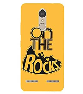 For Lenovo K6 Power On The Rocks, Yellow, Drink Patterns, Beautiful Pattern, Printed Designer Back Case Cover By CHAPLOOS