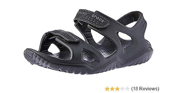 7069e21cf2b Crocs Swiftwater River Men Sandal in Black  Buy Online at Low Prices ...