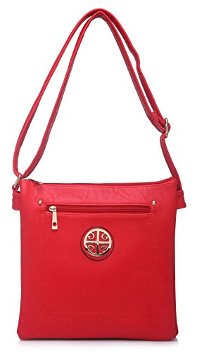Navegar Venta Suministro De Espacio Libre Big Handbag Shop - Borsa a tracolla donna (Red (LL462)) x1B8M6FaKB