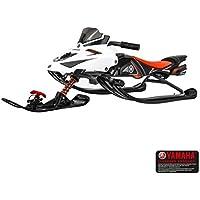 Trineo de dirección Yamaha FX Nytro con freno y volante, trineo para niños Skibob