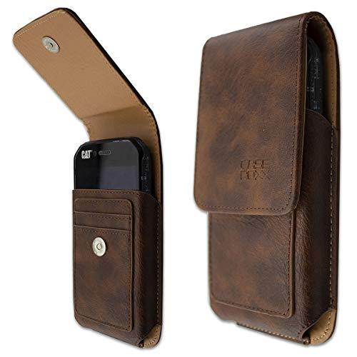 caseroxx Handy-Tasche Outdoor Tasche für Cubot King Kong 3 aus Echtleder, Handyhülle für Gürtel in braun