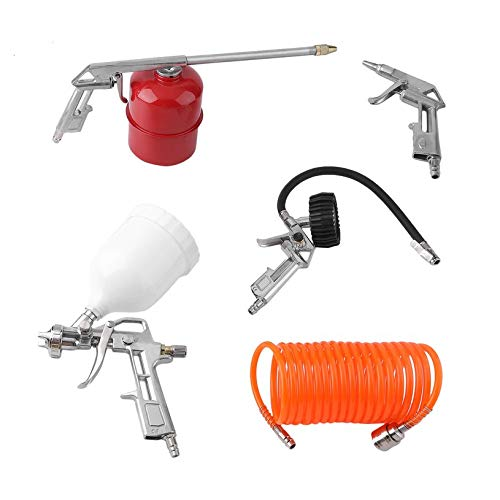 5 PCS Professional Compressed Air Set Manual Paint Spray Gun Auto Car Detail Painting Kit Compressor Accessories
