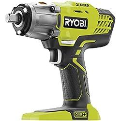 Ryobi 5133002436 Boulonneuse à choc sans fil 400 Nm pour des vissages extrêmes, Vert