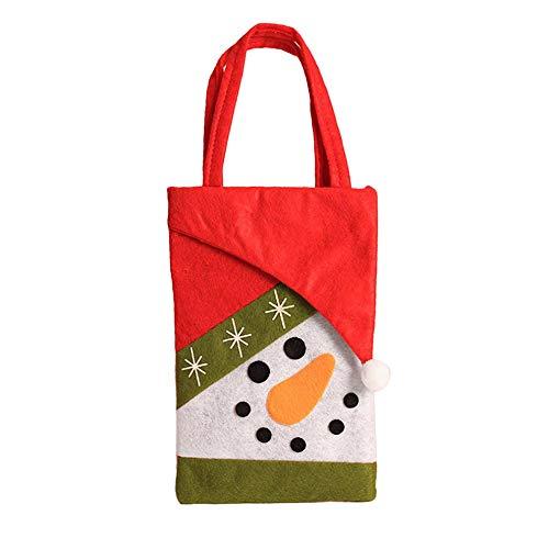 fdghhgjgtkuyiuy Vliesstoffe Kinder Süßigkeiten Taschen Tasche Für Süßigkeiten Taschen Weihnachtsverzierung Dekoration-Multi-Color-Misch Schneemann