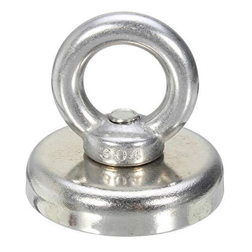 collectsound 32/36/48/60mm Recovery Magnet Haken Starke Angeln Tauchen Schatzsuche Ring, 66kg 48mmx52mm