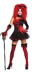 amscan Traje del partido del vestido Nueva mujer de Halloween Jesterina Clown Ladies Fantasía