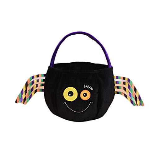 FORH Tasche Handtasche Henkeltasche Halloween Süßigkeiten Taschen Amüsante Kinderfestival Geschenk Flaumige Candy Basket Pumpkin Bag Party Dekor behandeln oder Trick Candy Demon (Trick Halloween-party Behandeln Oder)