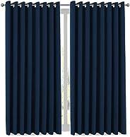 H.VERSAILTEX Wide Width Thermal Insulated Blackout Curtain - Antique Bronze Grommet Top - Burgundy - 100