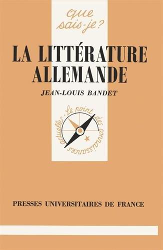 La Littérature allemande par Jean-Louis Bandet, Que sais-je?