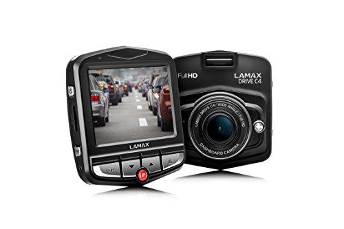LAMAX Drive C4 Dashcam Autokamera Full HD 1080p mit 140 Grad Aufnahmewinkel, 24h Parkwächter und G-Sensor schwarz