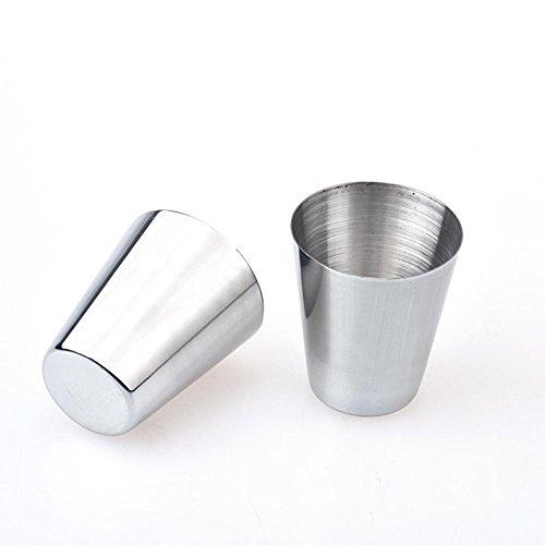 Airpot Glas (Flasche, bbring New 6pcs Edelstahl Tasse Kaffee Tee Becher Camping Becher)
