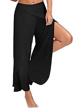 Swallowuk Pantaloni alla turca da donna, elasticizzati, ideali per lo sport, yoga, il ballo, jogging nero nero xl