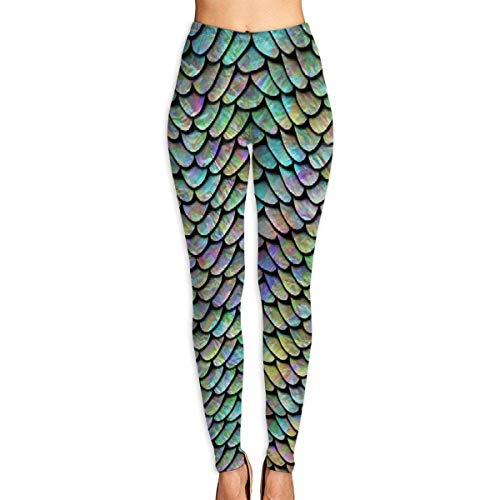 VAICR NCRSPIC Strumpfhosen Hosen,PersonalizedMermaid Scale Women's Printed Leggings Pants For Sports Yoga Workout Gym Running -