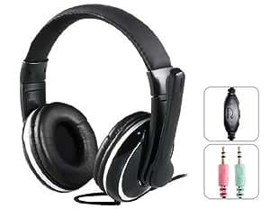 obtenir OVLENG X7 3.5mm stéréo des basses casque avec microphone et contrôle du volume (Noir)