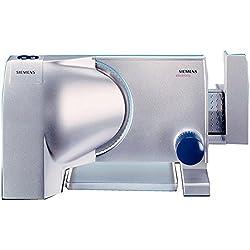 Siemens MS75001 rebanadora Eléctrico Aluminio 130 W - Cortafiambres (Eléctrico, 1,5 cm, Aluminio, 130 W, 220-240 V, 50-60 Hz)