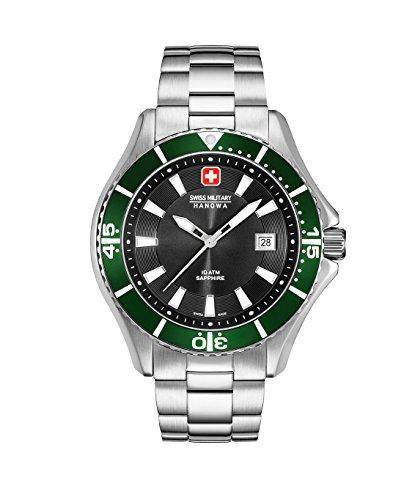 Swiss Military Hanowa Herren Analog Quarz Uhr mit Edelstahl Armband 06-5296.04.007.06