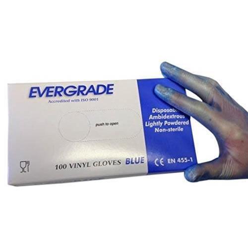 Prossor 0254 Med Bleu poudrés en vinyle (Lot de 100)