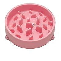 Ciotola Cane Anti Ingozzamento Plastica Rosa