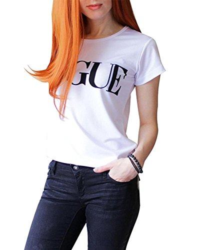 Minetom maglia maglietta donna manica corte pizzo estive ragazza top t shirt donna divertenti vintage tumblr magliette donna maniche corte estate bianco+nero it 40