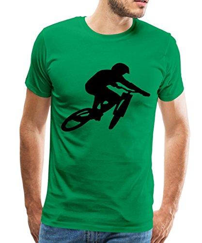 Spreadshirt Mountainbike Downhill Sprung Männer Premium T-Shirt, XL, Kelly Green (Mountainbike-shirts Für Männer)