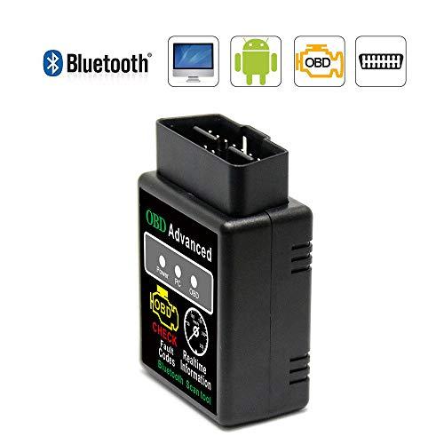 Bluetooth Professioneller OBD2 Diagnosegerät, VAWcornic Auto Diagnosegerät OBD II Kfz Adapter - Kompatibel mit Alle Fahrzeuge, Auto Diagnose OBD2 Stecker Für Android und Windows
