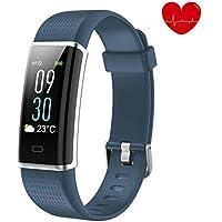 alwaiiz Fitness Tracker,Wasserdicht Fitness Armband Farbbildschirm Aktivitätstracker mit Pulsmesser Schrittzähler Schlaf-Monitor Fitness Uhr Sportuhr für Damen Herren Kinder