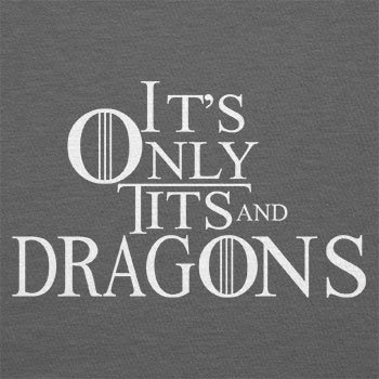 TEXLAB - Tits and Dragons - Herren T-Shirt Grau