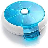 Lovelysunshiny Runde Form Medizin Pillendose Kompakt 7 Tage wöchentlich Reise Medizin Container preisvergleich bei billige-tabletten.eu