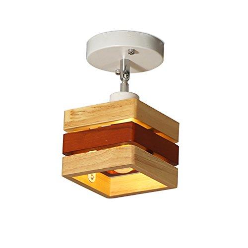 SEXY- Style Européen Simple Lumières D'allée Salon Entrée Rayon Vestiaire Plafonniers Nordique Bois Massif Chambre Les Lampes (taille : 1)