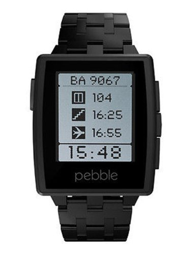 brand-new-new-pebble-steel-black-matte-silver-smart-watch-uk-seller-next-day-delivery