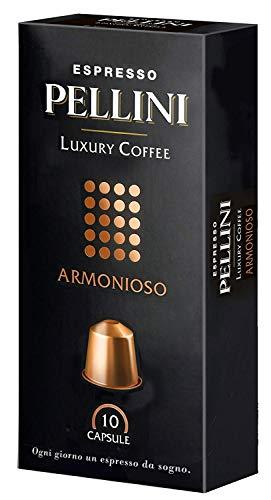 Pellini Caffè Luxury Coffee Armonioso - Nespresso kompatibel, 10 Kapseln, 4er Pack (4 x 50 g)