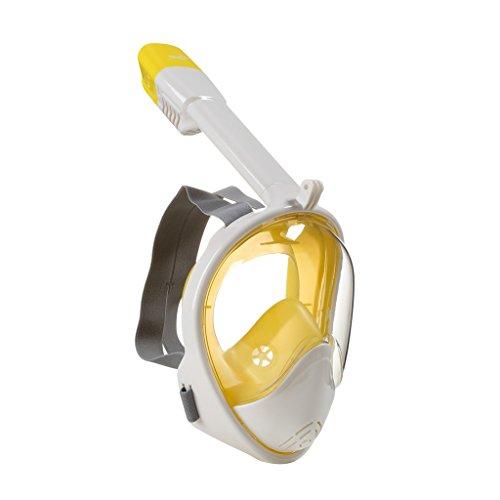 TGDY Schnorchel Maske Full View 180 Grad Vollgesicht Schnorcheln Schnorcheln Masken Tauchen Maske Erwachsene Und Kinder Sicherheit Tauchen,E,S/M