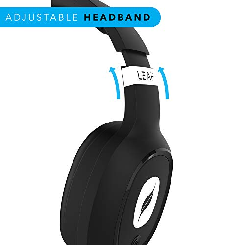 Leaf Bass Wireless Bluetooth Headphones with Hi-Fi Mic and 10 Hours Battery Life, Over Ear Headphones with Super Soft Cushions and Deep Bass (Carbon Black) Image 4