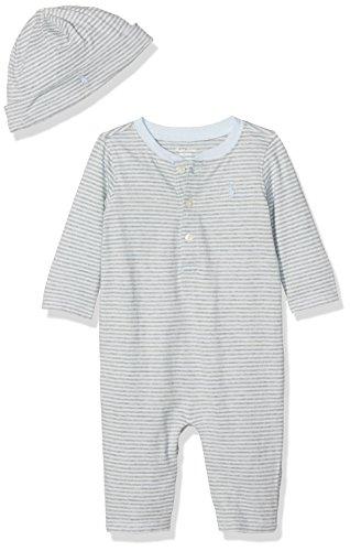 Polo Ralph Lauren Unisex Baby Strampler YD Jersey-Henley Cvrll-AC-Gbx Gift Box Set, Mehrfarbig (Blue 400), 74 (Herstellergröße: 12M) (Baumwoll-henley Lauren)